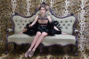maglia handmade: NICOLA LUCCARINI gonna e accessori: FABIO CASERTA archive