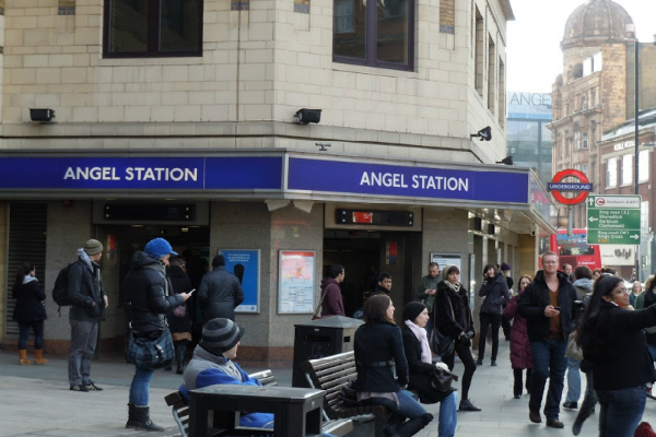 angel underground station london