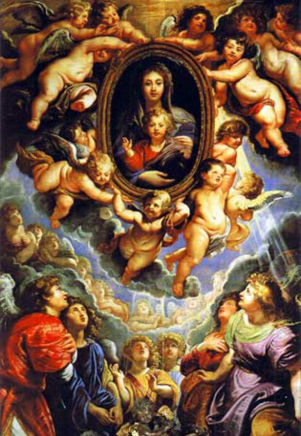 Rubens_Angeli in Venerazione della Madonna_Angeli sul muretto_Elena Cocchi_Magazzino26 blog