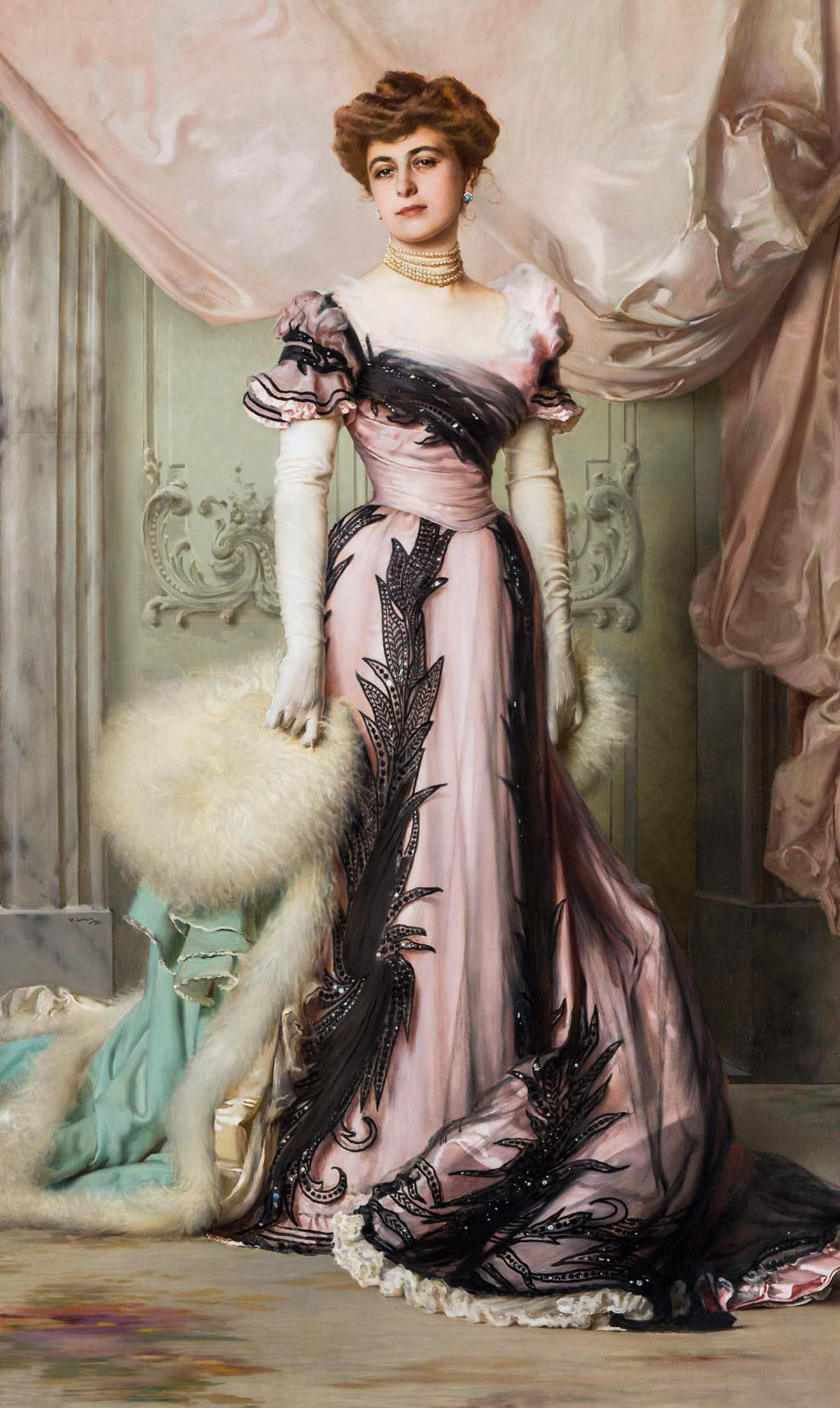 Ritratto di Carolina Maraini Sommaruga, 1901, olio su tela, cm 224 x 130. Roma, Fondazione per Istituto Svizzero