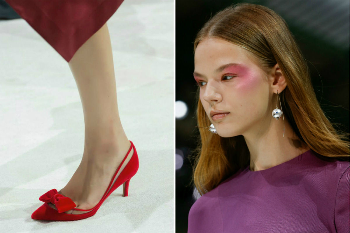 Dettaglio scarpa - Credits: indigital.tv / Make-up e accessori di sfilata - Credits: indigital.tv