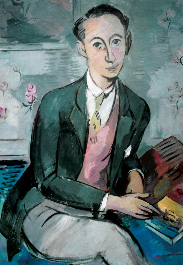 """Paul Stroker,,en,Portrait of Christian Dior,,it,Despite the reassuring choice to attend & nbsp; the Institute of Political Science & nbsp; Rue Saint-Guillaume in Paris,,it,the young Christian,,it,during his first stay in the capital,,it,He began to & nbsp; so enjoy the vibrant night life and the arts in the capital that already,,it,he had become a friend of Jean Cocteau and the musician Henri Sauguet,,it,He entered as part of a small group of intellectuals,,it,nicknamed """"The Club"""",,it: """"Ritratto di Christian Dior"""" (1928)"""
